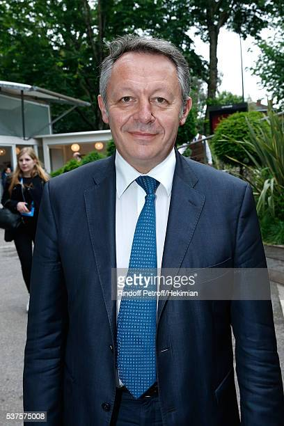 Secretary of State for Sports Thierry Braillard attends Day Twelve of the 2016 French Tennis Open at Roland Garros on June 2 2016 in Paris France