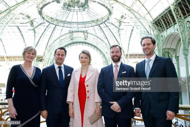Secretary of State for the Economy of Luxembourg Francine Closener Prime Minister of Luxembourg Xavier Bettel GrandeDuchesse Heritiere Stephanie De...