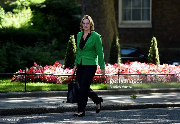 Secretary of State for the Home Department Amber Rudd arrives at Downing Street for the weekly cabinet meeting on July 19 2016 in London England