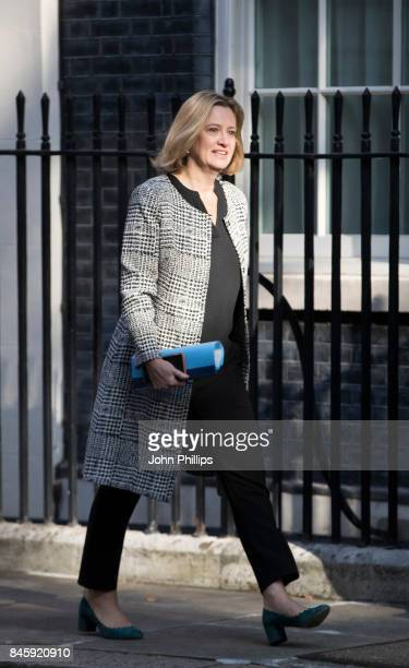 Secretary of State for the Home Department Amber Rudd arrives at Downing Street for the weekly cabinet meeting at 10 Downing Street on September 12...