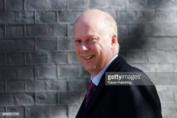 Secretary of State for Transport Chris Grayling arrives for a weekly cabinet meeting at 10 Downing Street in central London May 01 2018 in London...