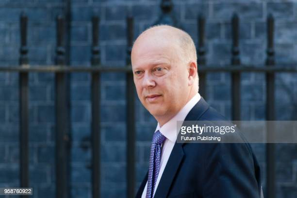 Secretary of State for Transport Chris Grayling arrives for a weekly cabinet meeting at 10 Downing Street in central London May 15 2018 in London...
