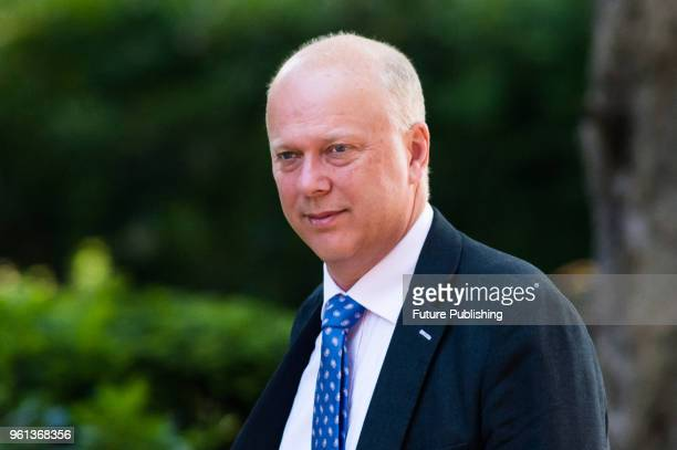 Secretary of State for Transport Chris Grayling arrives for a weekly cabinet meeting at 10 Downing Street in central London May 22 2018 in London...