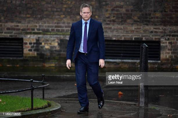 Secretary of State for Transport Grant Shapps arrives at 10 Downing Street on December 17 2019 in London England British Prime Minister Boris Johnson...