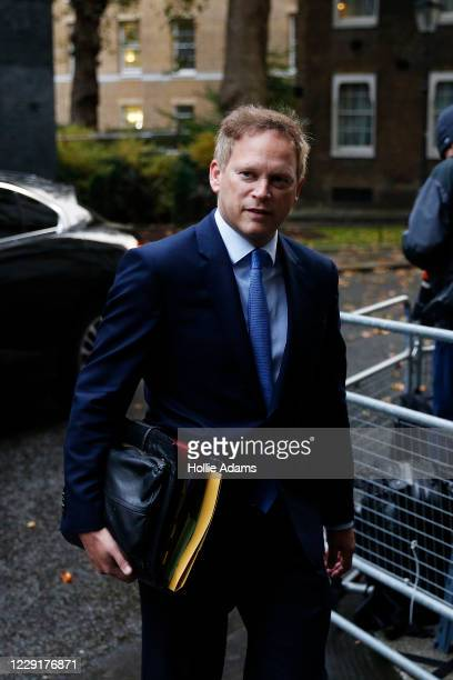 Secretary of State for Transport Grant Shapps arrives in Downing Street for the weekly cabinet meeting on October 20 2020 in London England Boris...