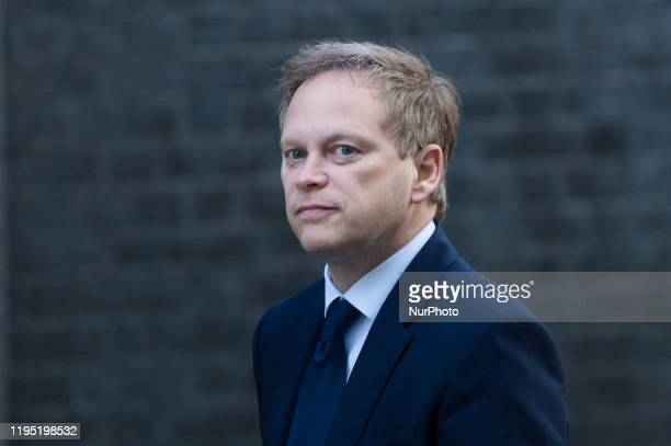 Secretary of State for Transport Grant Shapps attends a weekly Cabinet meeting in Downing Street in central London on 21 January 2020 in London...