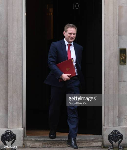 Secretary of State for Transport Grant Shapps departs following a cabinet meeting at Downing Street on February 14 2020 in London England The Prime...
