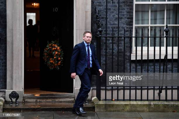 Secretary of State for Transport Grant Shapps leave 10 Downing Street following a Cabinet meeting on December 17 2019 in London England British Prime...