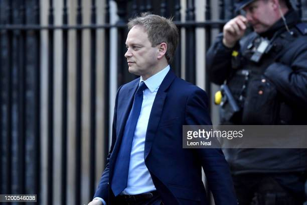 Secretary of State for Transport Grant Shapps leaves 10 Downing Street on February 13 2020 in London England The Prime Minister makes adjustments to...