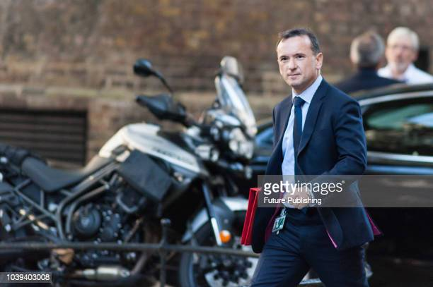 Secretary of State for Wales Alun Cairns arrives for a Cabinet meeting at 10 Downing Street in central London to discuss postBrexit immigration...