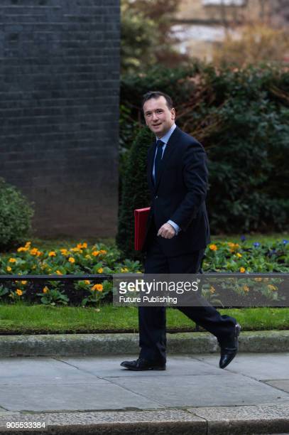 Secretary of State for Wales Alun Cairns arrives for a weekly cabinet meeting at 10 Downing Street in central London January 16 2018 in London England