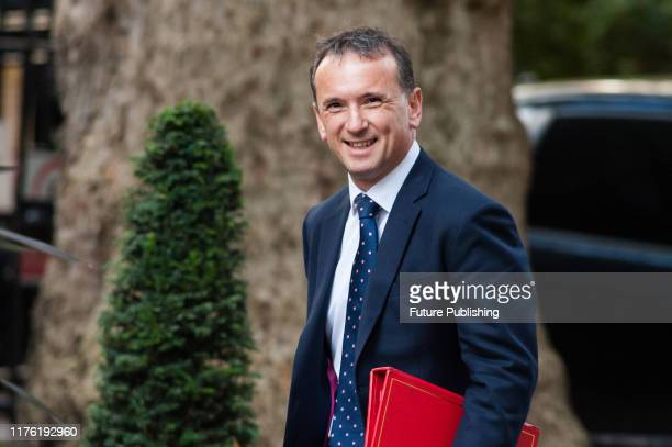 Secretary of State for Wales Alun Cairns arrives for the Cabinet meeting at 10 Downing Street on 16 October 2019 in London England Boris Johnson was...