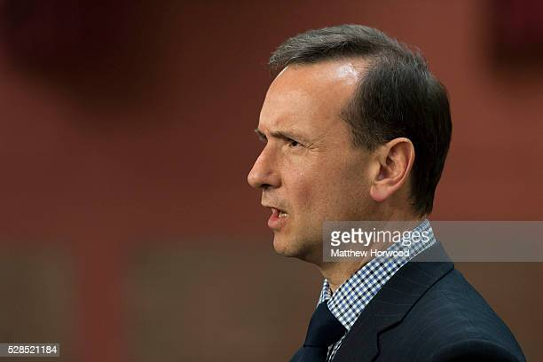 Secretary of State for Wales Alun Cairns gives an interview during the National Assembly for Wales election count at the Sport Wales National Centre...