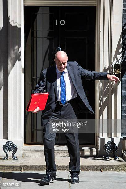 Secretary of State for Work and Pensions Damian Green leaves Number 10 Downing Street following the weekly cabinet meeting on July 19 2016 in London...
