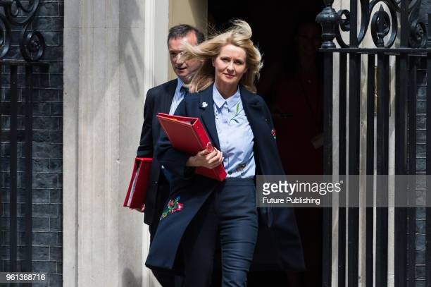 Secretary of State for Work and Pensions Esther McVey and Secretary of State for Wales Alun Cairns leave after a Cabinet meeting at 10 Downing Street...