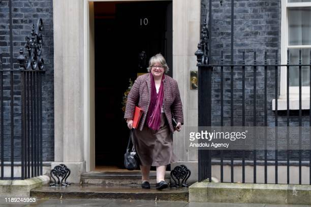Secretary of State for Work and Pensions ThZr se Coffey departs 10 Downing Street on December 17, 2019 in London, England. British Prime Minister...
