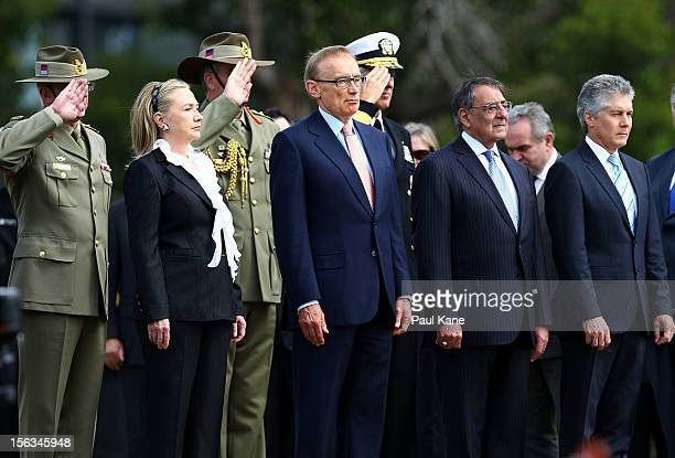Secretary of State Hillary Clinton and Australian Minister for Foreign Affairs Bob Carr US Secretary of Defense Leon Panetta and Australian Minister...