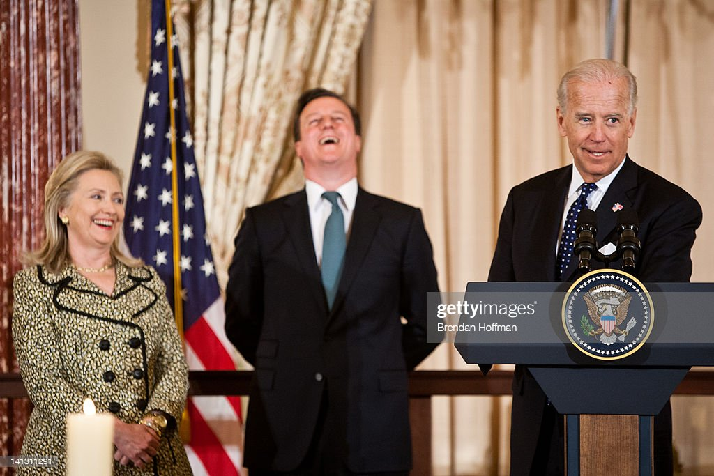 Vice-President Biden Hosts Luncheon For UK PM David Cameron