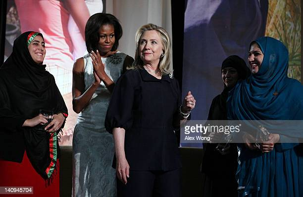 S Secretary of State Hillary Clinton first laday Michelle Obama Kandahar Provincial Council Member in Afghanistan Maryam Durani political activist...
