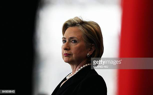 US Secretary of State Hillary Clinton listens during a press conference in Beijing on February 21 2009 US Secretary of State Hillary Clinton said...