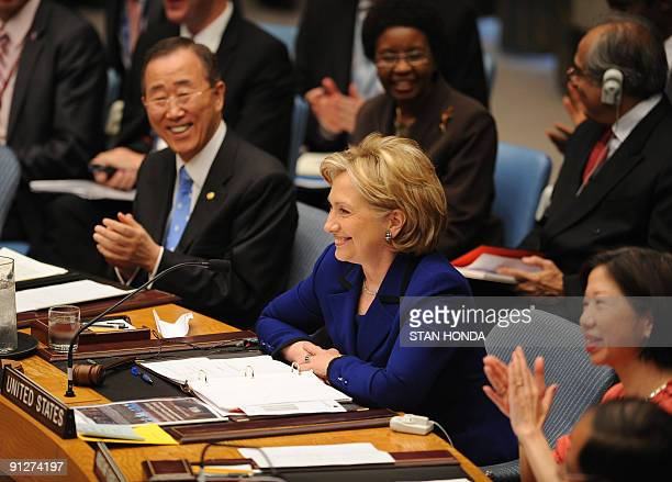 secretary-of-state-hillary-clinton-smiles-during-a-light-moment-as-picture-id91274197