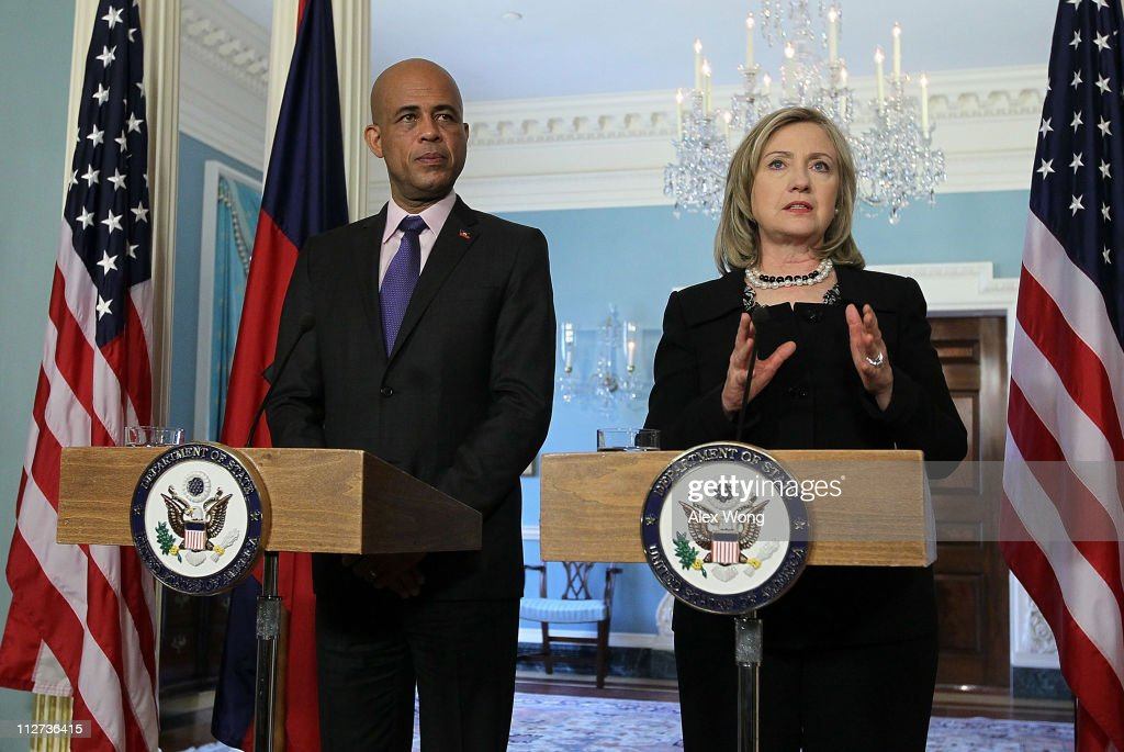Hillary Clinton Meets With Haitian President-Elect Michel Martelly