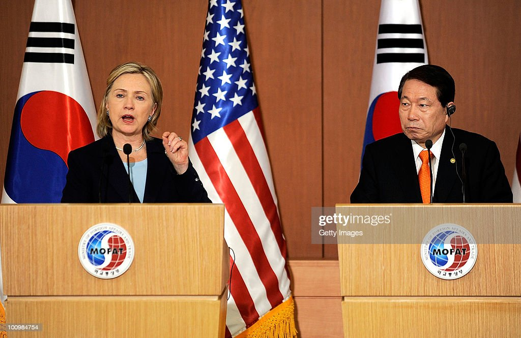 U.S. Secretary Of State Hillary Clinton Visits South Korea
