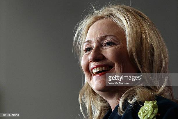 S Secretary of State Hillary Clinton speaks on the future of the global HIV/AIDS epidemic in a speech to the National Institutes of Health November 8...