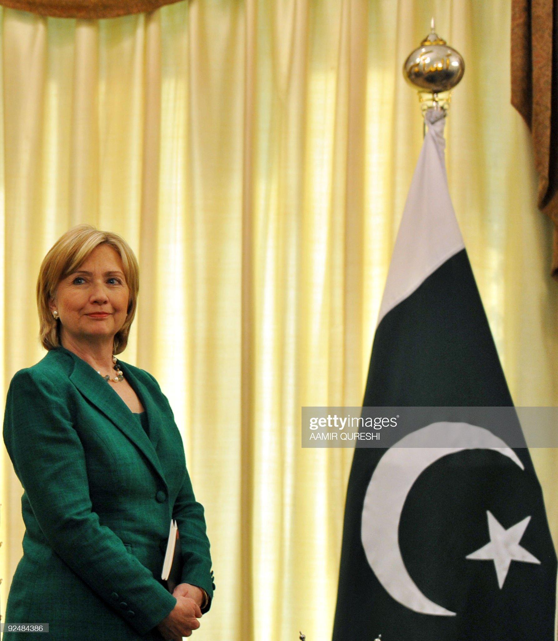 US Secretary of State Hillary Clinton st : News Photo