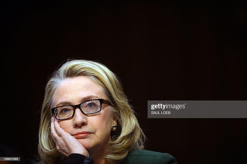 US-LIBYA-ATTACKS-CONGRESS-CLINTON : News Photo