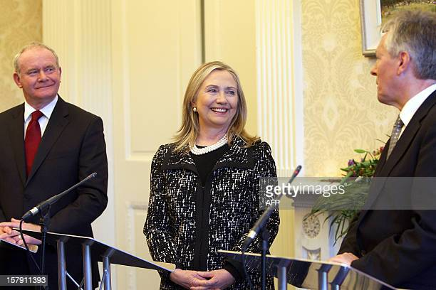 Secretary of State Hillary joins Northern Ireland's First Minister Peter Robinson and Deputy First Minister Martin McGuinness for a press conference...