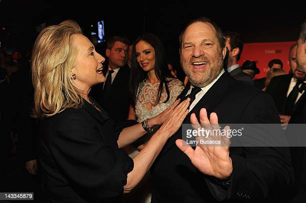 Secretary of State Hillary Rodham Clinton and producer Harvey Weinstein attend the TIME 100 Gala TIME'S 100 Most Influential People In The World...