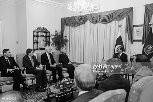 Secretary of State Hillary Rodham Clinton Prime Minister Yousaf Raza Gilani of Pakistan CIA director David Petraeus US Special Representative for...