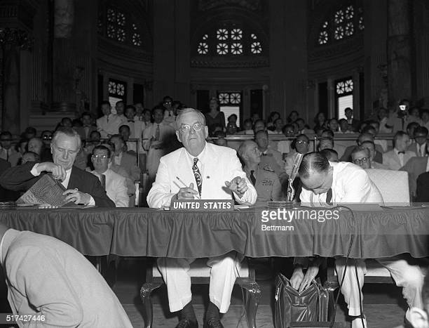 Secretary of State John Foster Dulles is shown at the opening session of the Southeast Asia Collective Defense Treaty Organization meeting in Bangkok...