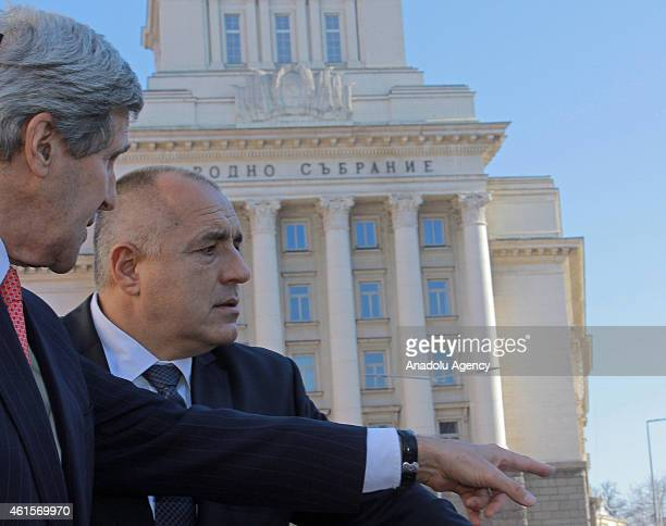 Secretary of State John Kerry and Bulgarian Prime Minister Boyko Borisov meet in Sofia Bulgaria on January 15 2015