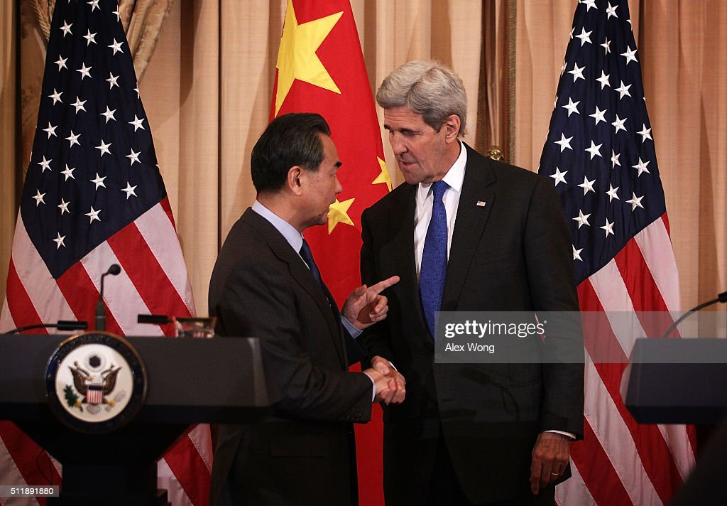 John Kerry Meets With Chinese Foreign Minister Wang Yi At State Department