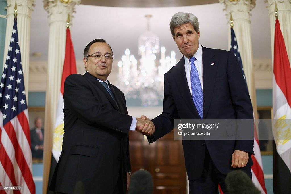Secretary Kerry Meets With Egyptian Foreign Minister Nabil Fahmy At State Department