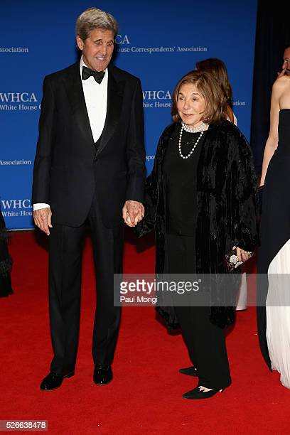 S Secretary of State John Kerry and Teresa Heinz attends the 102nd White House Correspondents' Association Dinner on April 30 2016 in Washington DC