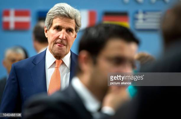 US Secretary of State John Kerry attends the NATO Foreign ministers meeting in Brussels in Brussels Belgium 25 June 2014 Last developments in Iraq...