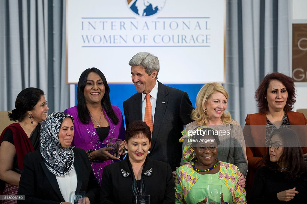 Secretary Of State John Kerry Holds Ceremony And Forum For International Women Of Courage Awards : News Photo