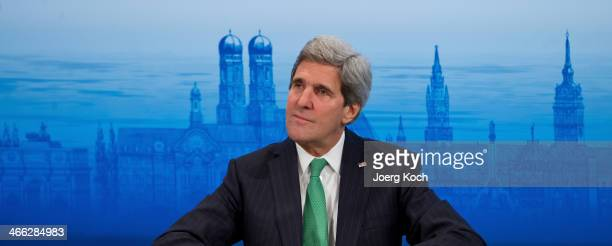 Secretary of State John Kerry during the 50th Munich Security Conference at the Bayerischer Hof hotel on February 1 2014 in Munich Germany The annual...