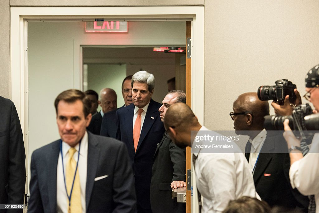 John Kerry Attends UN Security Meeting On Syrian Conflict : News Photo