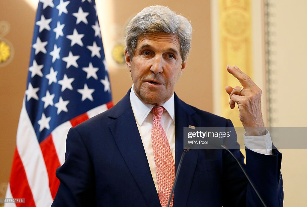 UK Foreign Secretary Hosts US Secretary Of State John Kerry