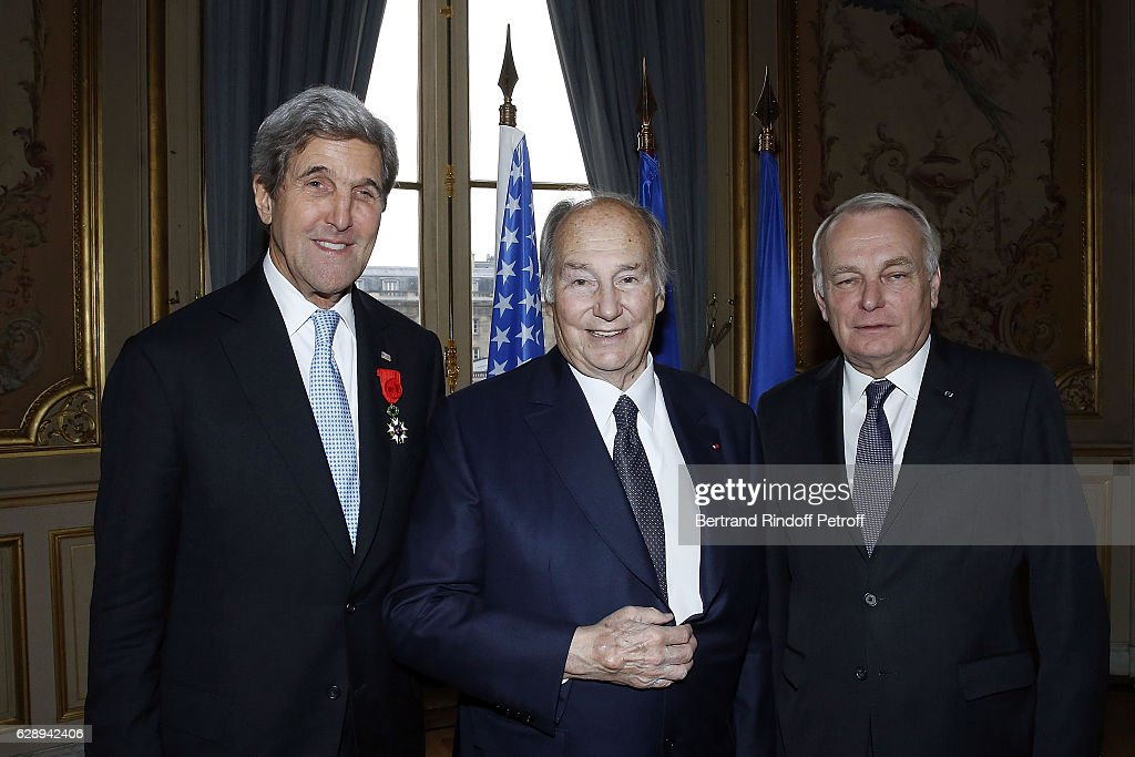 U.S. Secretary Of State John Kerry Decorated At Quai D'orsay In Paris