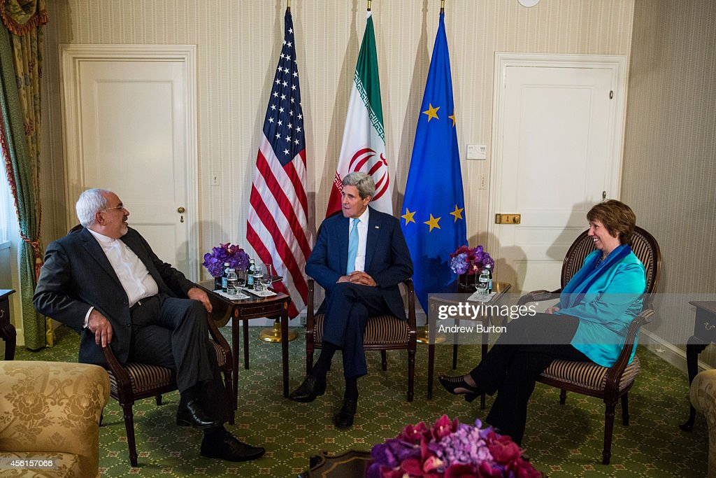 Sec. Of State John Kerry Meets With Iranian Foreign Minister Mohammad Javad Zarif And EU High Representative Ashton