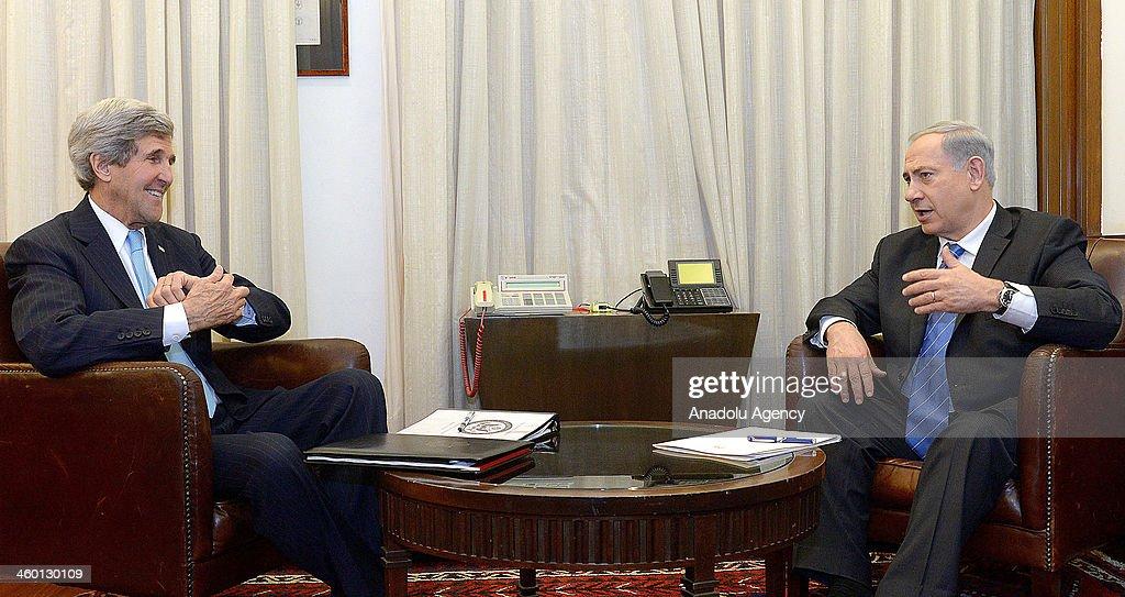 Kerry-Netanyahu meeting : News Photo