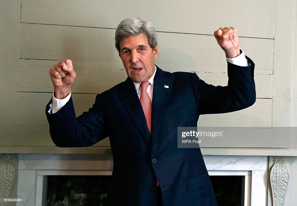 US Secretary of State John Kerry Attends Libya Ministerial Meeting In London
