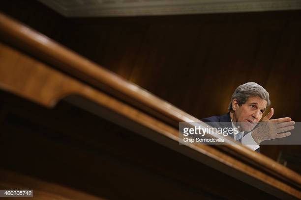 Secretary of State John Kerry testifies about a congressional Authorization for the Use of Military Force against the Islamic State the violent...