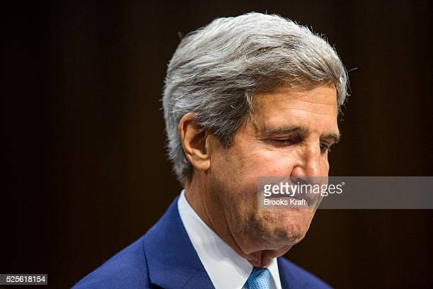 US Secretary of State John Kerry testifies before the Senate Foreign Relations Committee on the authorization of use of force in Syria on Capitol...
