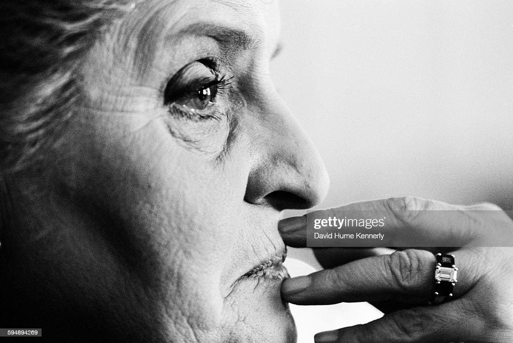 JFK Jr. Interview with Madeleine Albright for George Magazine : News Photo